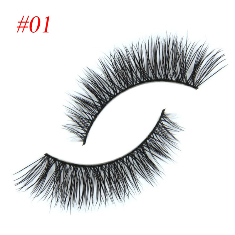 100% Mink Hair Long Natural Eye Lashes False Eyelashes Extension Party Makeup Hot