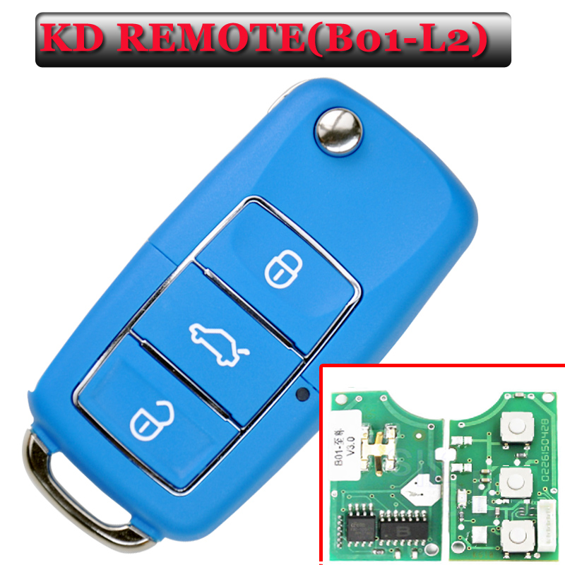 Free shipping (5 pieces)Keydiy B01L-03 Luxury 3 Button Remote Key with Blue colour for URG200/KD900/KD200