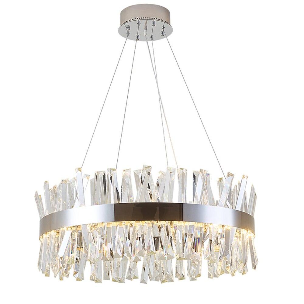 Rotondo design moderno lampadario di cristallo di illuminazione di lusso sala da pranzo living luci della stanza del bicromato di potassio LED lampada