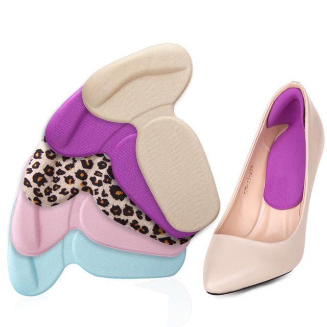 1 Chăm Sóc Chân Gót Gel Pad Lót Đế Dụng cụ chống ma sát gót miếng gel mỏng miếng dán chỉnh hình giày phụ nữ