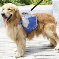 Medium And Large Big Pack Dog Bag Saddle Backpack Outdoor Hiking Camping Training Pet Carrier