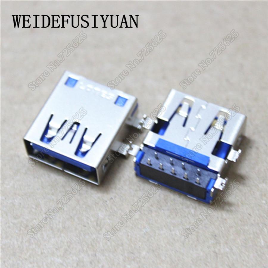 50pcs-100pcs USB 3.0 Port Socket for Asus X200CA X200MA for HP 9470M Laptop 3.0 USB Jack Connector 2pcs 100pcs for laptop dell latitude e5540 usb 3 0 jack socket port connector 9 pin new