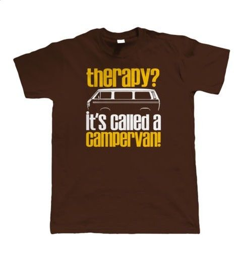 Therapy, Its Called A Campervan, Mens Funny T25 T Shirt - Gift for Him Dad Summer Man T-Shirt Tops Tees New
