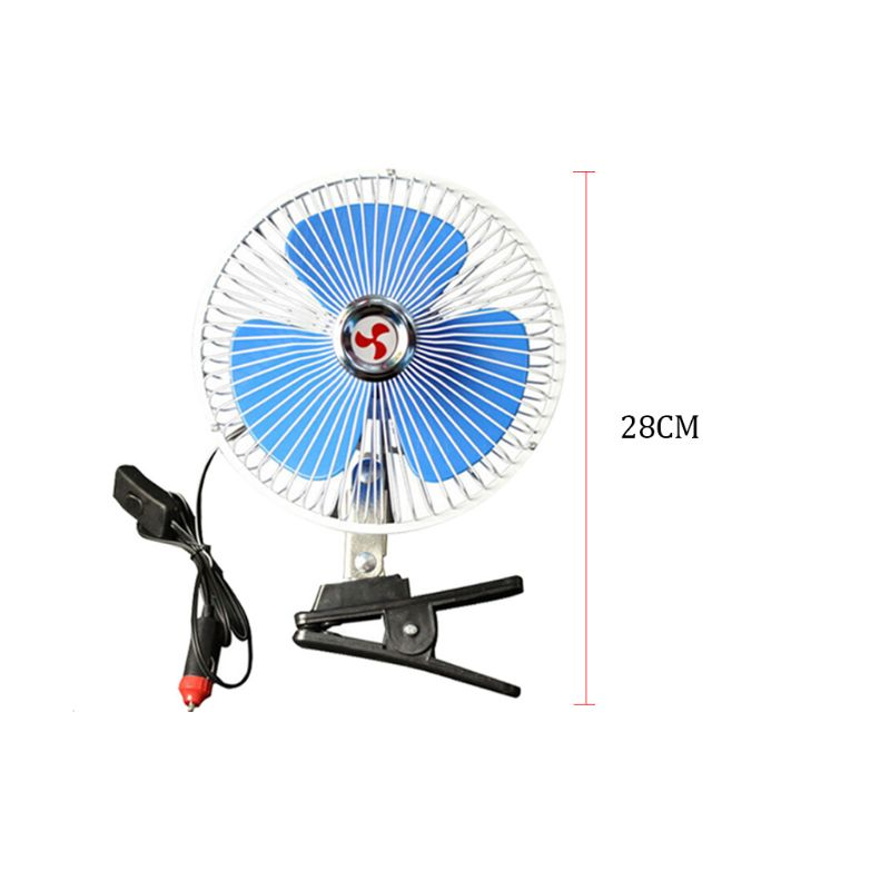 8 39 39 12V 24v Portable Vehicle Auto Car Fan Oscillating Car Auto Clip On Cooling Fan in Heating amp Fans from Automobiles amp Motorcycles