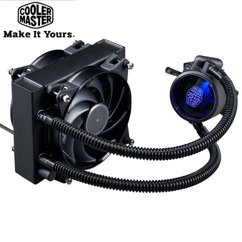 Cooler Master B120 CPU Liquid Cooler 120mm quiet fan Compatible Intel 2066 115x AMD AM4 CPU Water Cooling fan Cooler cooler master 240 cpu liquid cooler two 120mm quiet fan compatible intel 2066 115x amd am4 cpu water cooling fan cooler