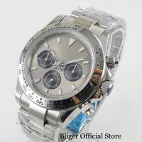 New Automatic Men's Watch With Sterile Dial Sapphire Glass Date And Week Fucntion 39mm Polished Watch