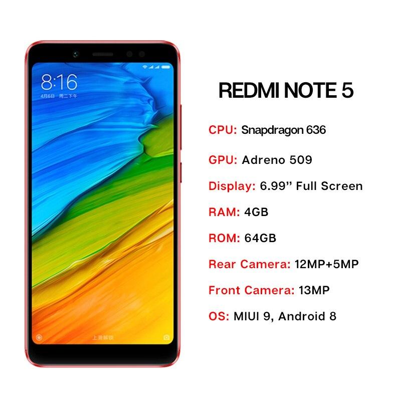 Version mondiale Xiaomi Redmi Note 5 4 GB 64 GB 5.99