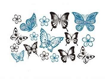 Su geçirmez geçici dövme etiket küçük boyutlu kelebek dövme kız dövme çıkartma flaş dövme sahte dövmeler renkli vücut sanatı