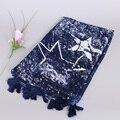 Заказ СМЕШИВАНИЯ дизайн дамы printe звезды кисточки популярные мода дизайн платки wrap мусульманин зимние шарфы/шарф 10 шт./лот