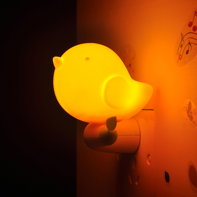 Night Light Wall Socket Lamp US Plug Kid Childrens night light Baby LED Mini cute bird shape Night light