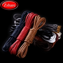 1 Pair High Quality Round Shoelaces Waterproof Shoe laces Outdoor Leisure Martin boots Adult Unisex Waxed Cotton Shoe lace