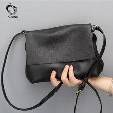 KUJING Leder Handtaschen hochwertigen Einfache Damen Schulter Messenger Tasche Günstige Mode Beiläufige Lederne frauen Kleine Quadratische Tasche