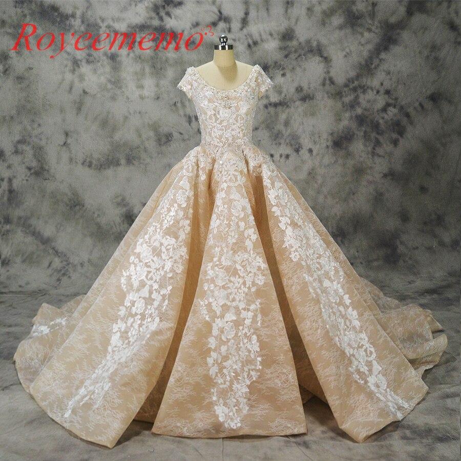 Vestido de noiva luxury lace design wedding dress big for Wedding dresses with royal length train