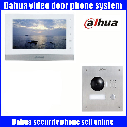 Original 7 Inch Touch Screen Dahua DH-VTH1550CH Color Monitor with TO2000A outdoor IP Metal Villa Outdoor Video Intercom system