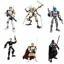 New KSZ Star Wars diy figures Darth Vader White Storm Trooper  Figure toys building blocks kaygoo star wars han solo tauntaun skywalker darth vader jabba slave princess leia building blocks set for kids toys gifts