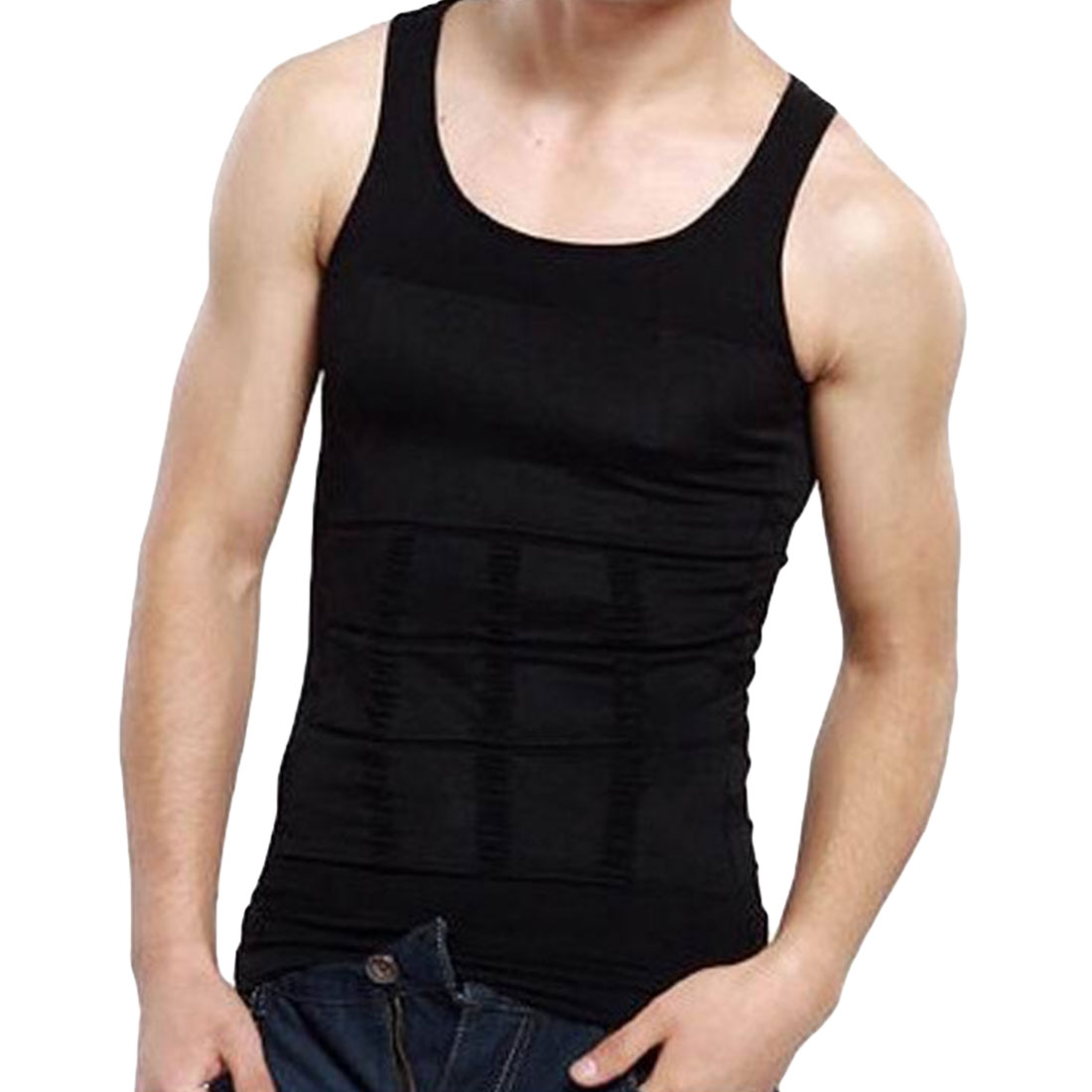 Sous Vetement Hommes  Lift Men's Body Sculpting Slimming Vest,Waist And Abdomen Underwear Less Beer Belly Thin Chest Waist V