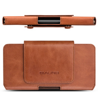 QIALINO Cover for Huawei Mate 10 Case Business Pocket Bag Genuine Leather Waist Sleeve Case for Huawei Mate 10Pro Simple Holster