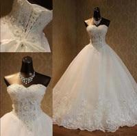 Vintage Fabulous Wedding Dresses with Beading Appliques Lace Up Back Sleeveless Custom Made For Elegant Brides Sparkly Vestidos