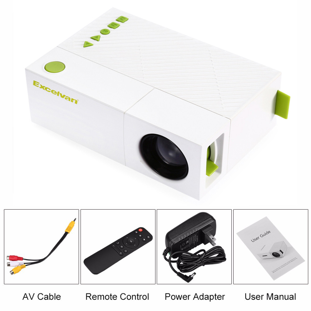 Image 5 - Excelvan YG310 updated YG300 LED Portable Projector 800LM 3.5mm 320x240 HDMI USB Mini Projector Home Media Player support 1080p-in Projector Accessories from Consumer Electronics