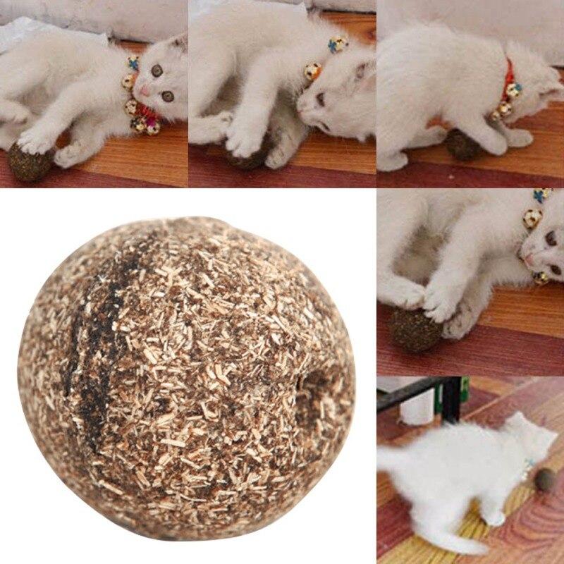 Useful Cat Toy Natural Catnip Ball Menthol Flavor Edible Cats-go-crazy Treats