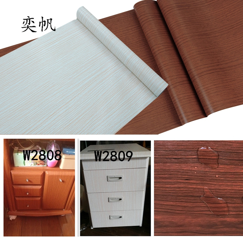 kitchen cabinet adhesive paper wood grain diy self adhesive wall paper furniture stickers 5150