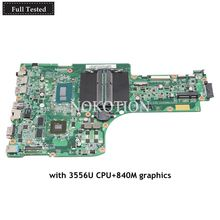 NOKOTION laptop motherboard For acer Aspire E5-771G main board NBMP711001 NB.MP711.001 SR1E3 3556U CPU 840M graphics