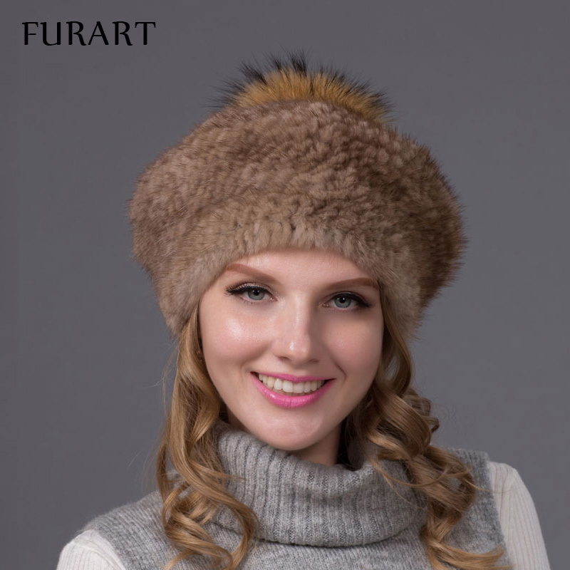 Mink fur knit beret  hat for women winter fur hats with silver fox fur pom pom top new fahion fur berets cap good quality adjustable cnc billet short folding brake clutch levers for triumph daytona 675 r speed triple 1050 r 2011 2015 2012 2013 2014