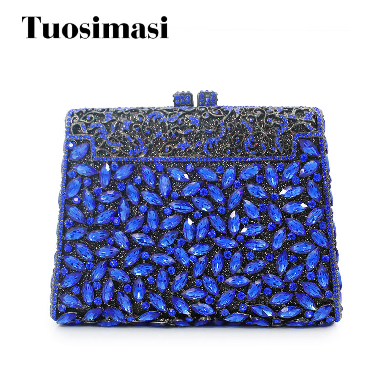 Luxury crystal clutch evening bag royal blue party purse women wedding bridal handbag pouch soiree pochette bag luxury crystal clutch evening bag silver and champagne party purse women wedding bridal handbag pouch soiree pochette bag
