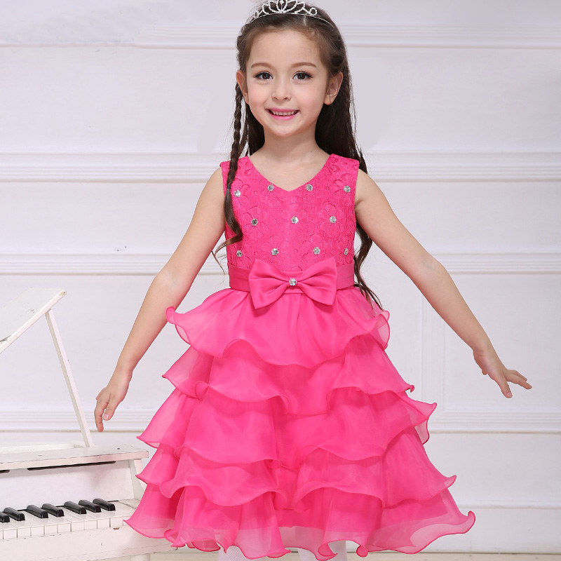 Pretty Little Girls Pink Dresses