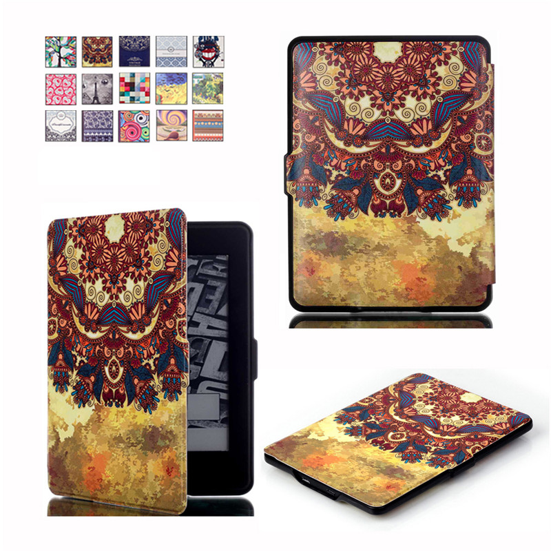 Ultra Slim PU Leather eReader capa Case For Amazon Kindle Paperwhite Paper White 1 2 3 2015 Hard Shell Flip Cover eBook Cases mdfundas flower animal pattern cover for amazon kindle paperwhite 1 2 3 case flip stand leather shell for kindle paperwhite 3