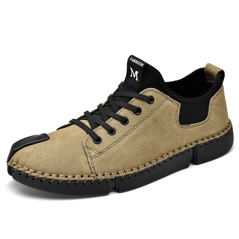 Big Size Men leather Casual shoes Summer Soft Man 48 Handmade Leather Shoes