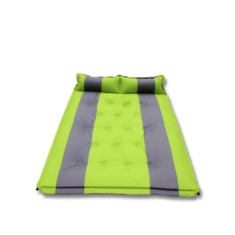 Outdoor Picnic Beach Camping Mat Broadened Inflatable Mattress Outdoor Cushion Moistureproof Folding Double Couple Mat AA52035 цены