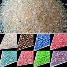 Wholesale 22 Colors Jelly Laser Crystal SS12 AB 3mm Flatback Rhinestones crystal facet resin 1000pcs/bag nail art beads