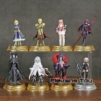 Fate Grand Order Duel FGO Collection Figure Saber Scathach Mash Gilgamesh Merlin Medb 8pcs/set