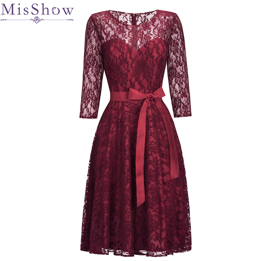 Robe De Soiree Short Burgundy Red Short Cocktail Dresses 2019 Short Sleeve Vestidos Coctel Knee Length Party Homecoming Dress