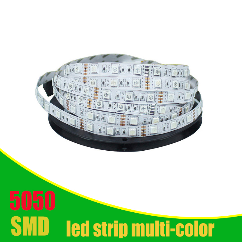 DC12v 5m LED Strip 5050SMD Flexible Strip LED Lights Lamps  RGB Warm Wihte Red Green Blue DC 12V Transformer And Controller