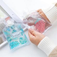 Cartoon Hand Po Warm Water Bottle Cute Mini Transparent Hot Bottles Small Portable Warmer Injection Storage Bag