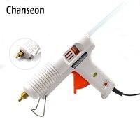 Chanseon Hot Melt Glue Gun 150W Smart Adjustable Temperature Copper Nozzle Heater Heating 100 220V 1PC
