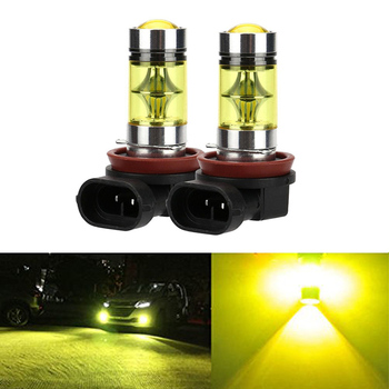 12V 2PCS H11 LED Fog Light Bulbs H8 H10 9005 Hb3 9006 Hb4 20 SMD 4300K Amber IP65 Auto Lights Headlight For Car image