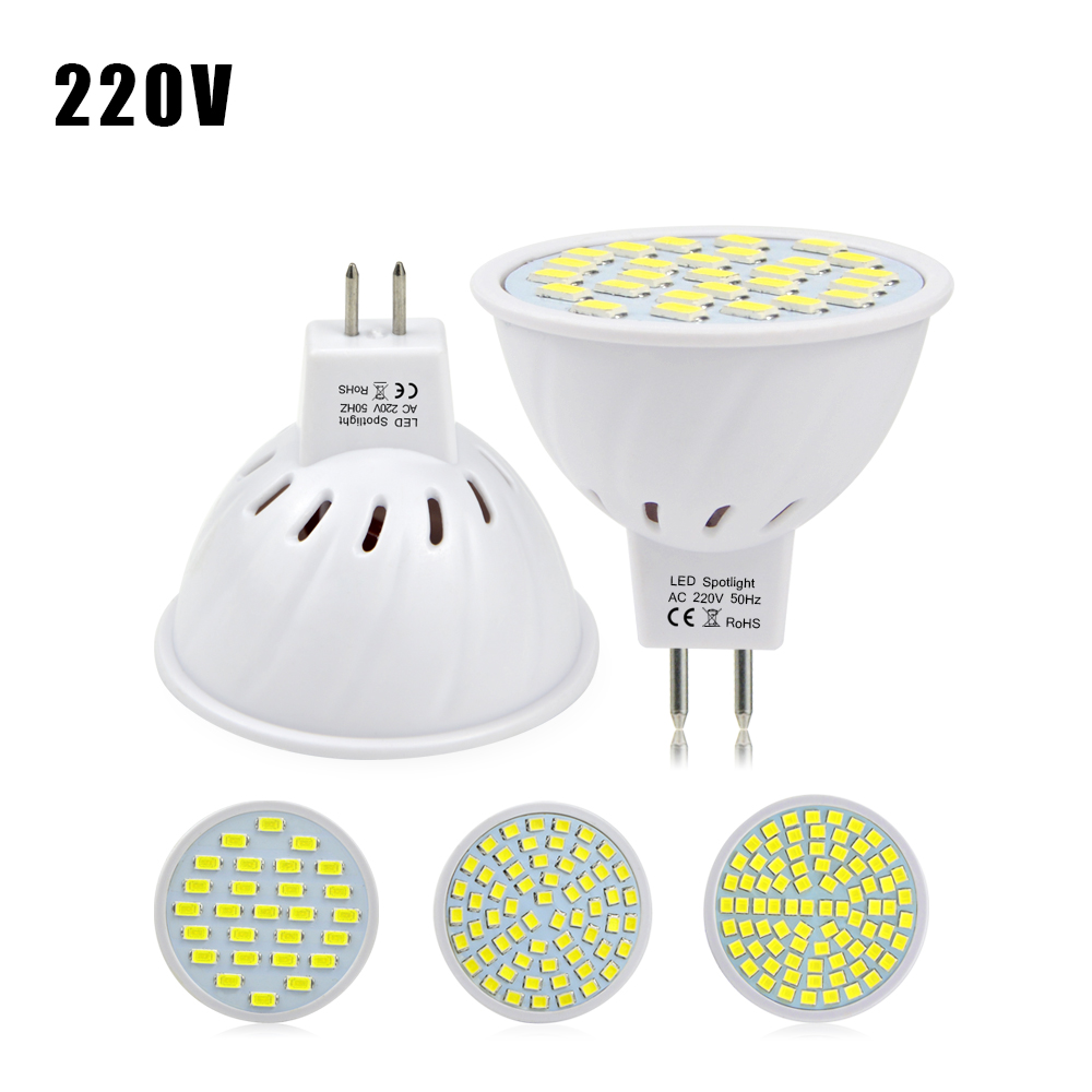New Arrival Plastic Body Mr16 Gu5 3 Led Spotlight Bulb Ac220v 5730 2835smd Energy Saving Light