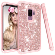 3 in1 Bling case for Coque Samsung S9Plus Case Note9 Etui Samsung Note 9 Case 360 Protect for Funda Samsung Galaxy S9 Plus Cover
