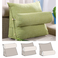 45*48*20cm Cotton Linen Triangular Backrest Cushion For Sofa Cushions For Bed Rest Pillow Back