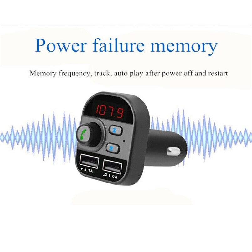 V5.0 Bluetooth Car FM Transmitter Wireless Radio Adapter USB Charger Car Mp3 Player Digital Tube Display Screen 40AP902