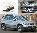 Для BMW X5 E53 2004 2005 2006 Отлично Ultrabright лампы подсветки CCFL angel eyes kit Halo Angel Eyes Кольцо