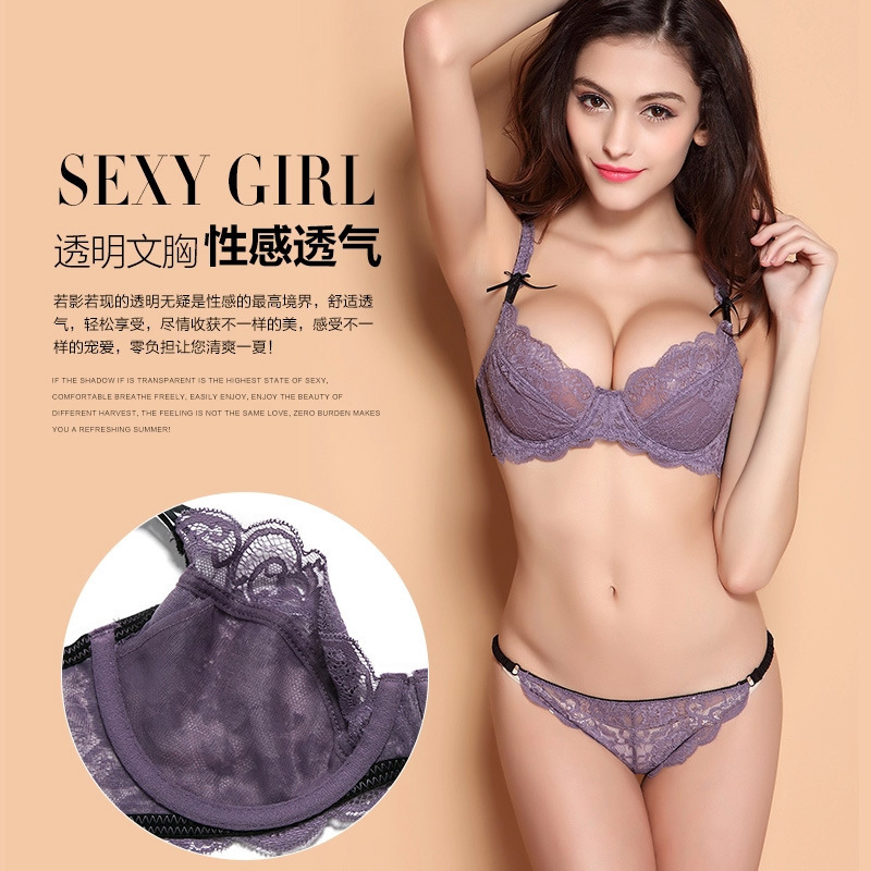 Hot Sale Fashion Sexy Bra Set lingerie victoria women's slim lace ...