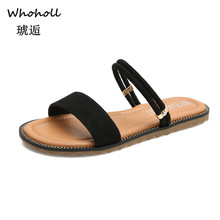 цена на Women Sandals Rome Style Summer Sandals for 2019 Flip Flops Plus Size 33-43 Flat Sandals Beach Summer Zapatos Mujer Casual Shoes