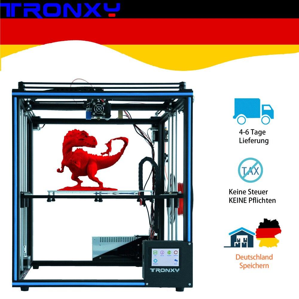 TRONXY X5SA Alta Precisão de Impressão de Grande Porte 3D impressora impressora Da Tela De Toque de 3.5 polegada