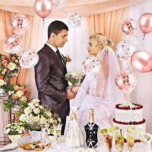 Image 2 - 20 Viên Mix Hoa Hồng Vàng Bóng Confetti Ballon Viền Trái Tim Sinh Nhật Cưới Trang Trí Balo Tặng Cho Bé Cô Dâu Sữa Tắm