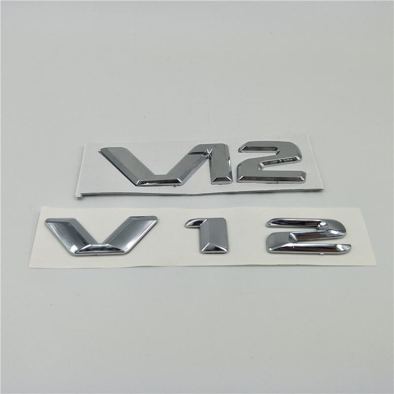 for Mercedes Benz AMG V12 Emblem Badge Side Fender Logo Tail Rear Letters Sticker emblem