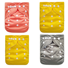 Купить с кэшбэком Reusable Baby Cloth Diaper Washable Solid Color Baby Nappy One Size Adjustable Waterproof Available Cloth Diapers BNK05